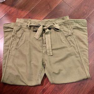Free People Army Green Paper Bag Pants